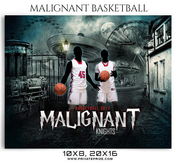 Malignant Themed Sports Photography Template - Photography Photoshop Template