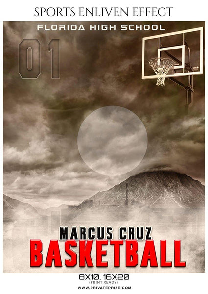 Marcus Cruz - Basketball Sports Enliven Effects Photography Template - Photography Photoshop Template