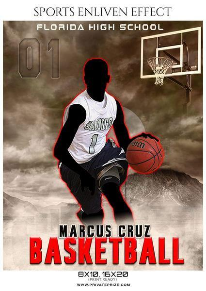 Marcus Cruz - Basketball Sports Enliven Effects Photography Template