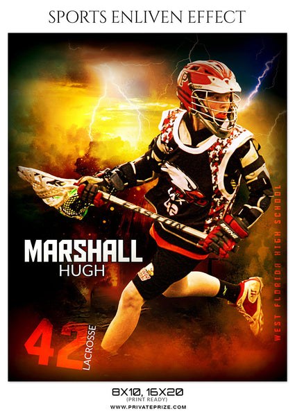 MARSHALL HUGH-LACROSSE- SPORTS ENLIVEN EFFECT - Photography Photoshop Template