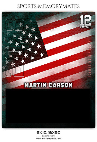 Martin Carson - Football Sports Memory Mates Photoshop Template - Photography Photoshop Template