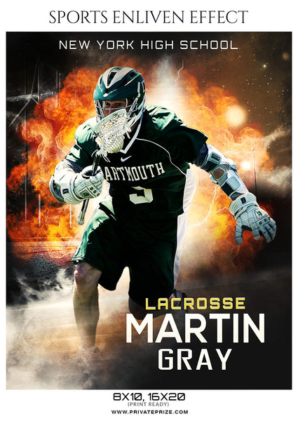 Martin gray - Lacrosse Sports Enliven Effects Photography Template - Photography Photoshop Template
