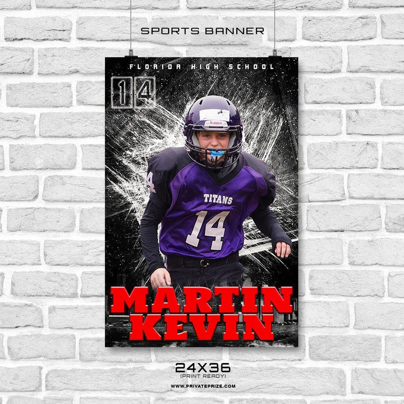 Martin Kevin - Football Enliven Effects Sports Banner Photoshop Template