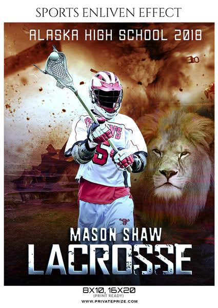 Mason Shaw - Lacrosse Sports Enliven Effects Photography Template