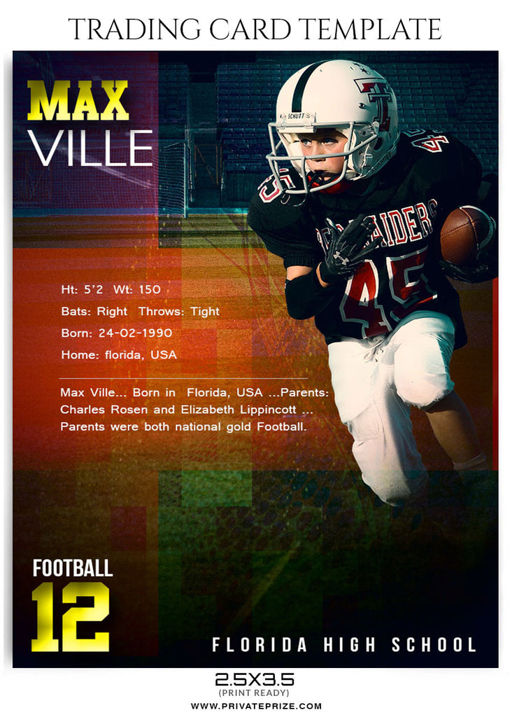 Ville Sports Trading Card Template