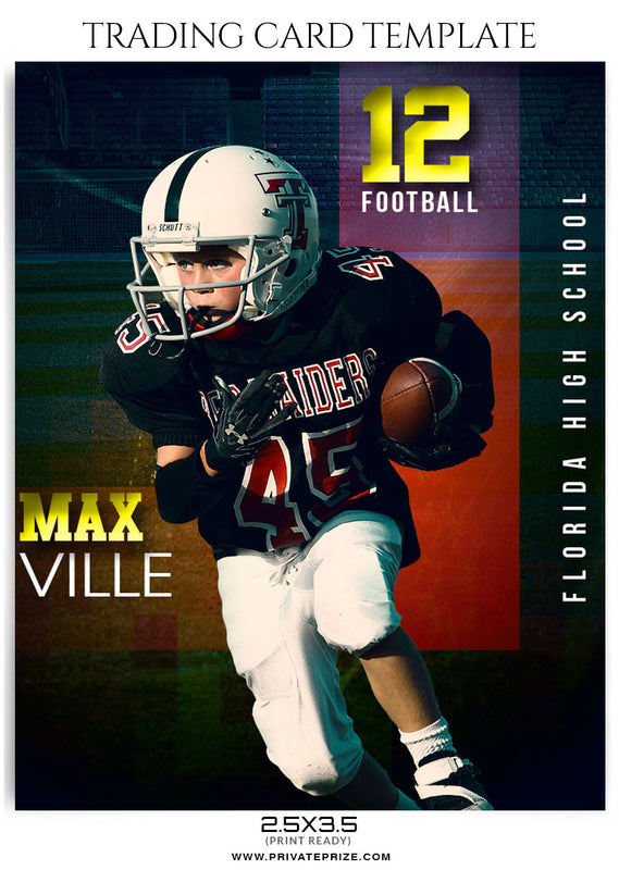 max ville sports trading card template