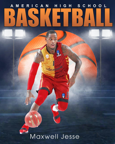 Maxwell Jesse - Basketball Sports Enliven Effect Photography Template - Photography Photoshop Template