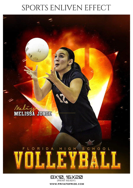 Melissa Jorge - Volleyball Sports Enliven Effects Photography Template - Photography Photoshop Template