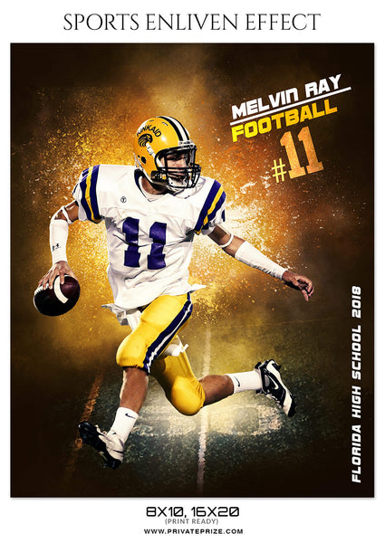 MELVIN RAY-FOOTBALL- SPORTS ENLIVEN EFFECT - Photography Photoshop Template