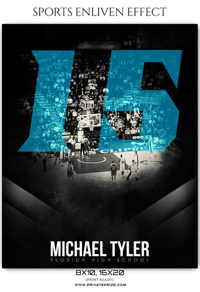 Michale Tyler - Basketball Sports Enliven Effects Photography Template - Photography Photoshop Template
