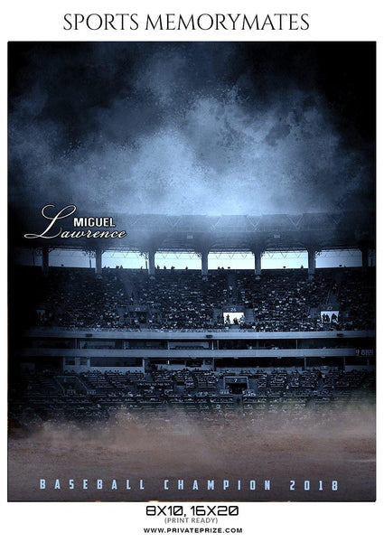 Miguel Lawrence - Baseball Memory Mate Photoshop Photography Template