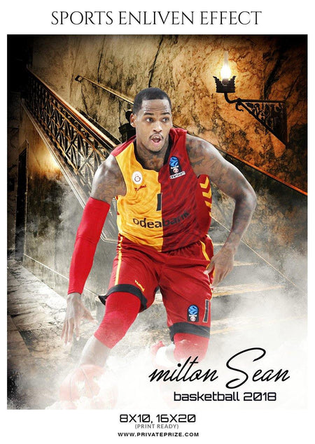 Milton Sean - Basketball Sports Enliven Effect Photography Template - Photography Photoshop Template