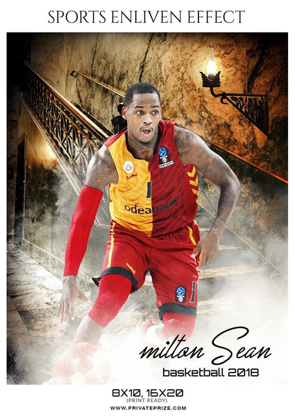 Milton Sean - Basketball Sports Enliven Effect Photography Template