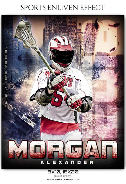 Morgan Alexander- Lacrosse Sports Enliven Effects Photography Template