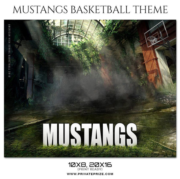 Mustangs - Basketball Theme Sports Photography Template - Photography Photoshop Template