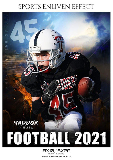 Maddox Miguel - Football Sports Enliven Effect Photography Template