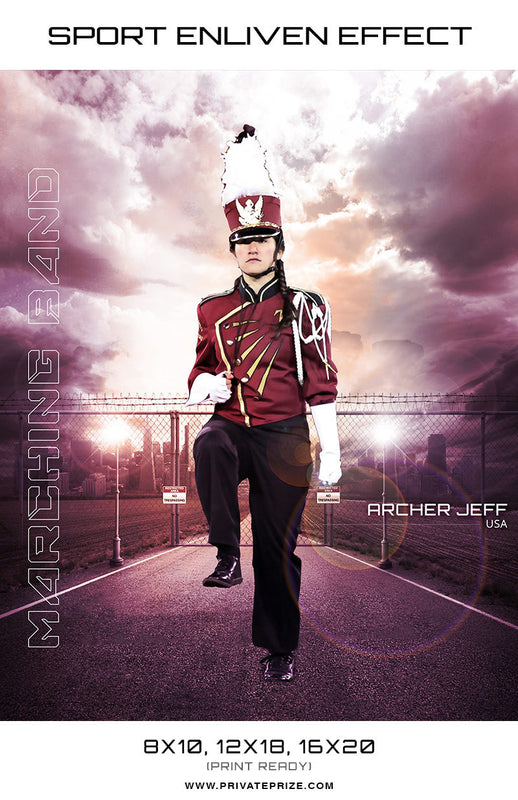 Marching Band Archer Sports - Enliven Effects - Photography Photoshop Templates