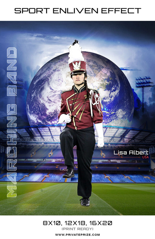 Marching Band Lisa Sports - Enliven Effects - Photography Photoshop Template