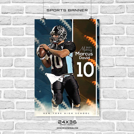 Marcus David-Football - Sports Banner Photoshop Template