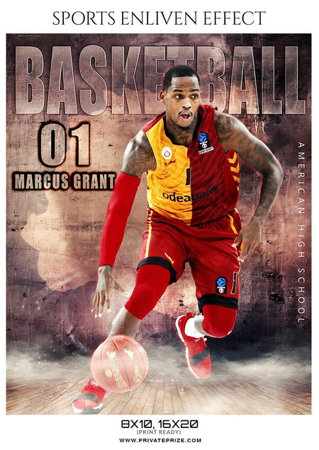 Marcus Grant - Basketball Sports Enliven Effect Photography Template