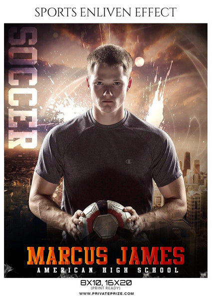Marcus James - Soccer Sports Enliven Effect Photography Template