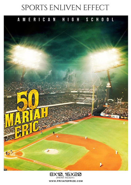 Mariah Eric - Softball Sports Enliven Effect Photography template