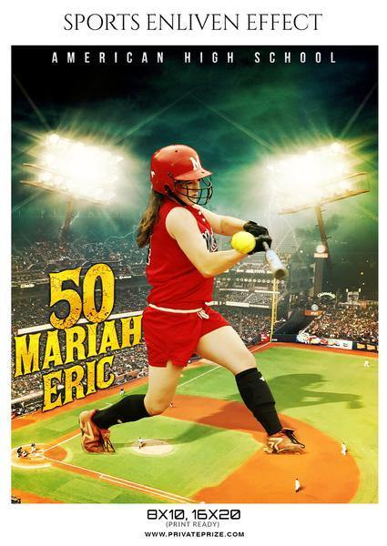 Best Selling Softball Bundle Photography Photoshop Template