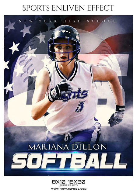 Mariana Dillon -  Softball Template -  Enliven Effects