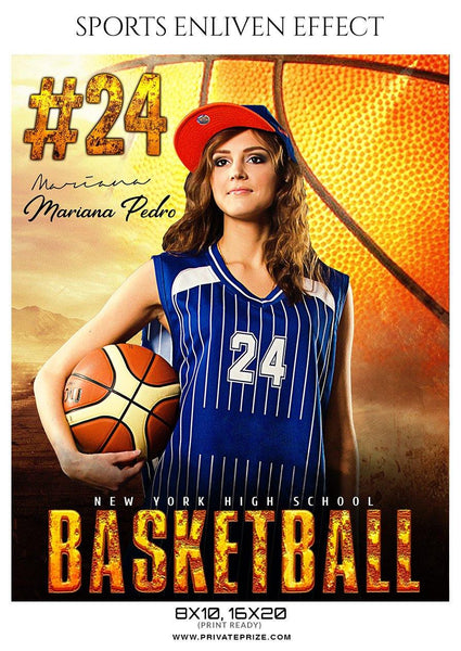 Mariana Pedro - Basketball Sports Enliven Effect Photography Template