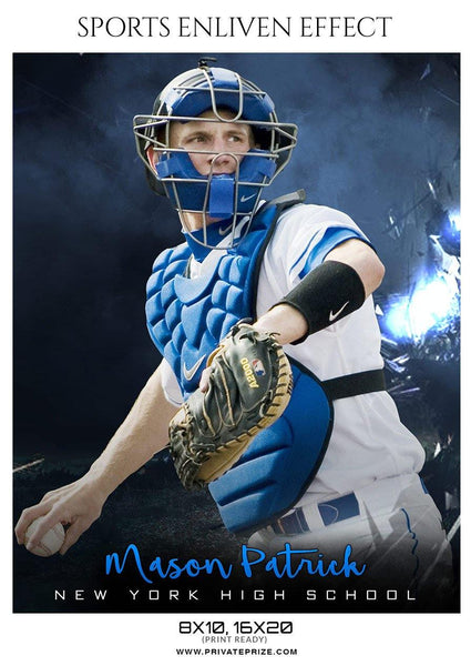 Mason Patrick - Baseball Sports  Enliven Effects Photography Template