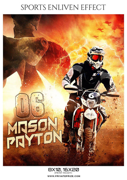 Mason Payton - Bike Racing  Sports Enliven Effect Photography Templates