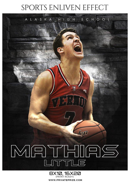 Mathias little - Basketball Sports Enliven Effect Photography Template