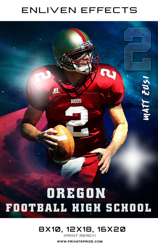 Matt Oragan Football High School - Enliven Effects - Photography Photoshop Templates