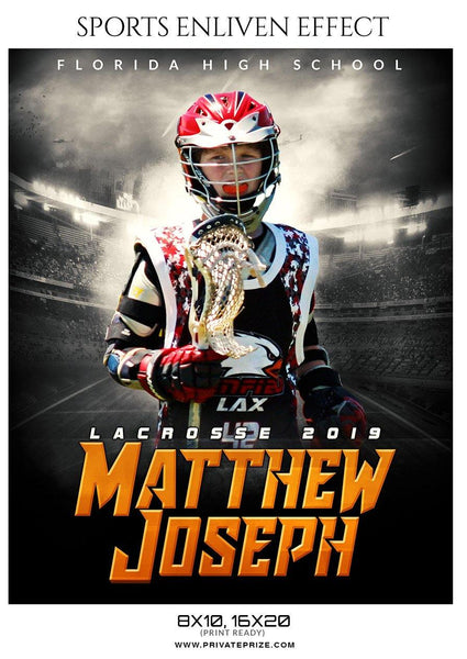 Matthew Joseph - Lacrosse Sports Enliven Effects Photography Template