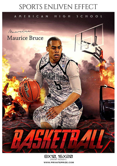 Maurice Bruce - Basketball Sports Enliven Effect Photography Template
