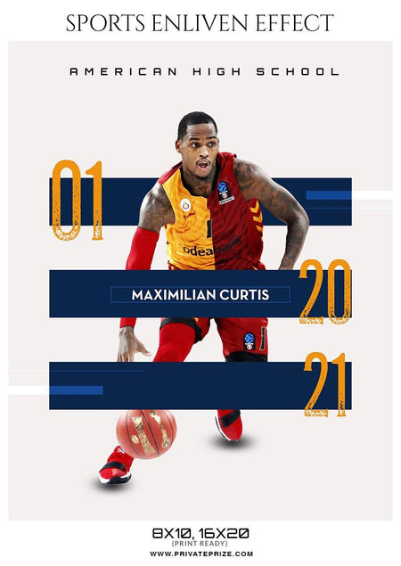 Maximilian Curtis - Basketball Sports Enliven Effect Photography Template