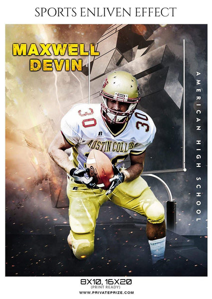 Maxwell-Devin - Football Sports Enliven Effect Photography Template