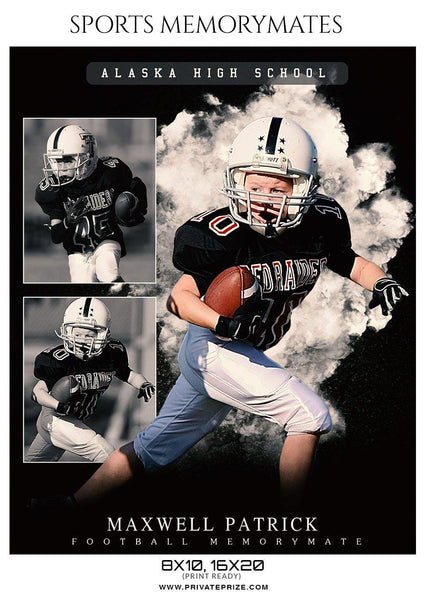 Maxwell Patrick - Football Memory Mate Photoshop Template