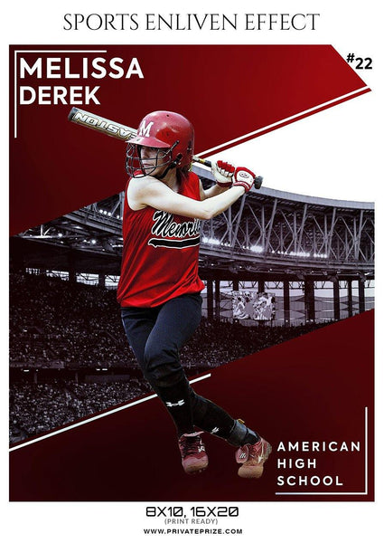 Melissa Derek - Softball Sports Enliven Effect Photography template