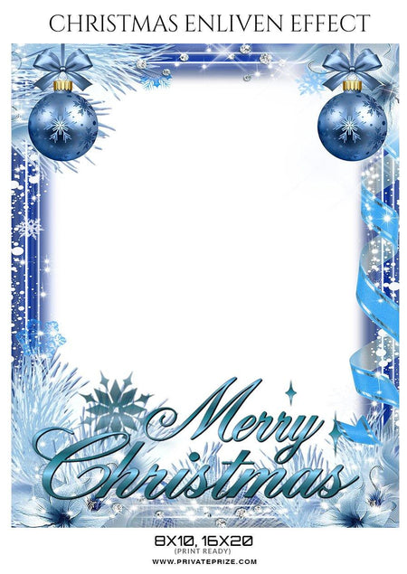 Merry Christmas - Enliven Effect - Photography Photoshop Template