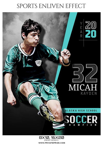 Micah Kayden - Soccer Sports Enliven Effect Photography Template