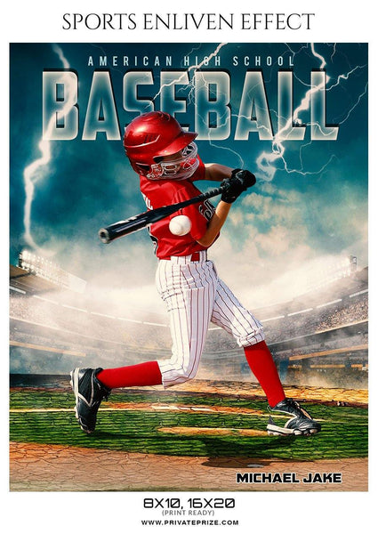 Michael Jake - Baseball Sports Enliven Effect Photography Template