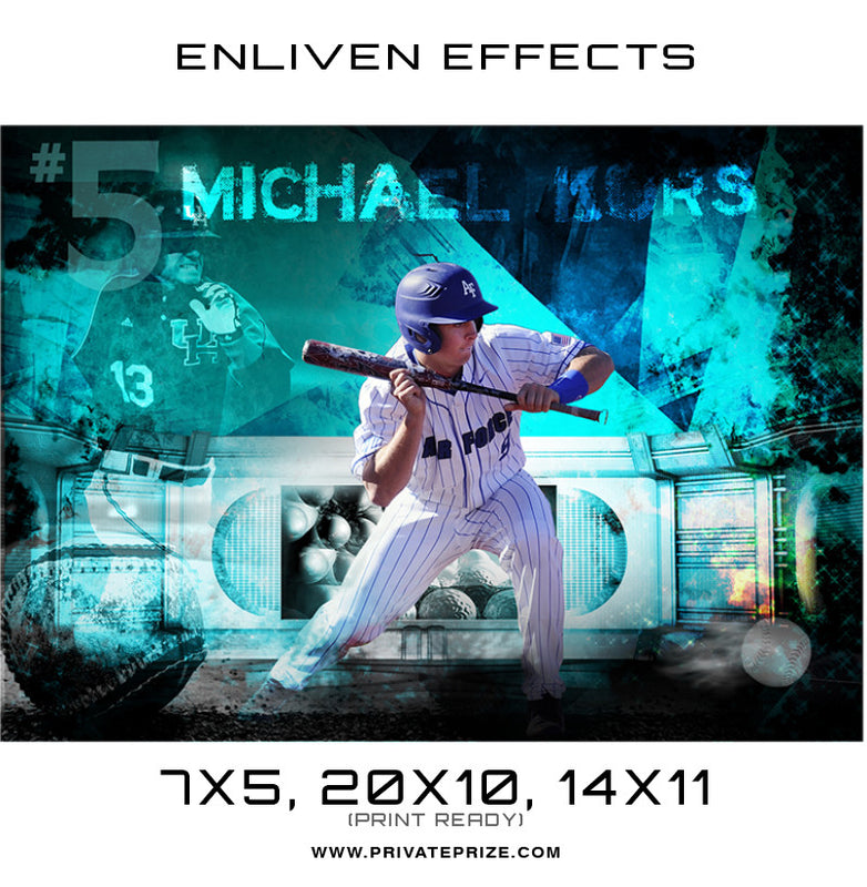 Michael Kors Baseball - Enliven Effects - Photography Photoshop Template