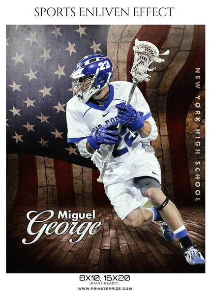 Miguel George - Lacrosse Sports Enliven Effects Photography Template