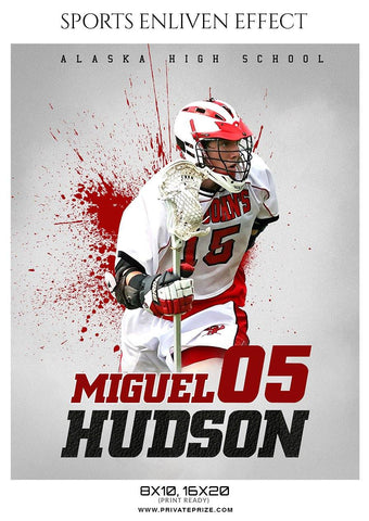 Miguel Hudson - Lacrosse Sports Enliven Effects Photography Template