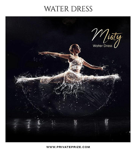 Misty - Water dress overlays and Brushes - Photography Photoshop Template