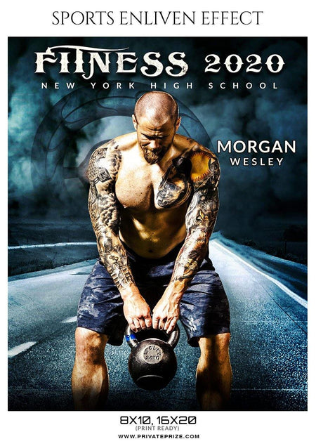 Morgan Wesley - Fitness Enliven Effect Photography Template - Photography Photoshop Template