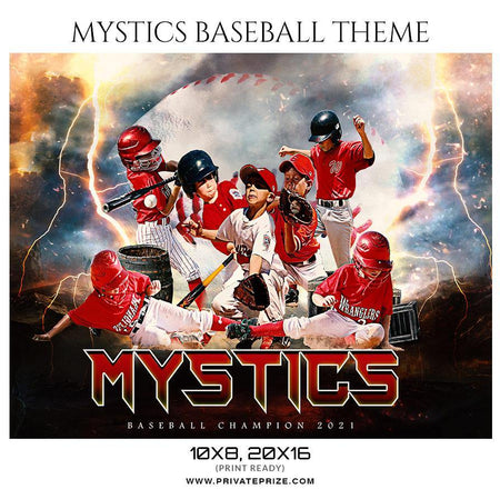 Mystics Baseball - Sports Theme Sports Photography Template - PrivatePrize - Photography Templates