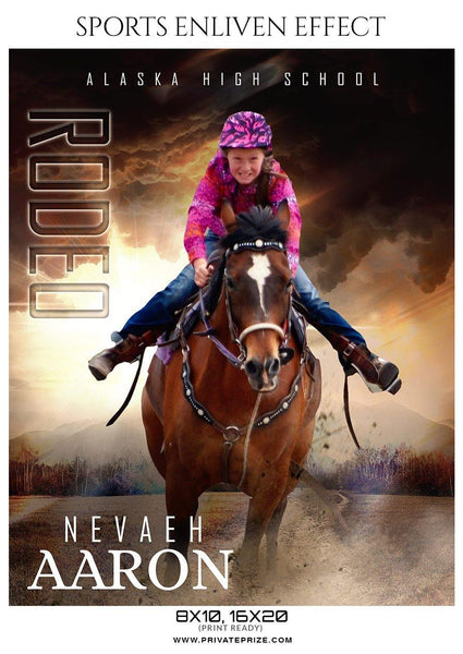 Nevaeh Aaron - Rodeo Sports Enliven Effects Photography Template - Photography Photoshop Template