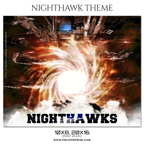 Nighthawks Football - Football Themed Sports Photography Template